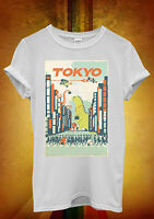 Tokyo City Cartoon Hipster Cool Funny Men Women Unisex T Shirt Tank Top Vest 431