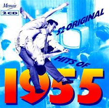 52 ORIGINAL GREATEST HITS OF 1955 New 2 CD Alma Cogan,Ruby Murray,Pat Boone Etc