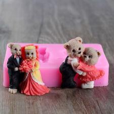 Teddy Bear Fondant Silicone Molds Cake Decorating Tools DIY Sugarcraft Chocolate