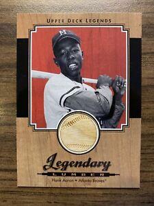 Hank Aaron-2001 Upper Deck Legends (Legendary Lumber-Game-Used Bat Relic) HOF!