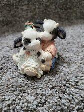 "Mary'S Moo Moos ""Meet Me Under the Moo-stletoe""Enesco Figurine - # 142921"