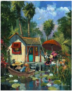 Disney Fine Art Limited Edition Canvas Florida Fishin'-Mickey+Minnie-Coleman