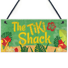 Tiki Shack Hanging Bar Plaque Beer Cocktail Beach Decoration Sign Friend Gifts