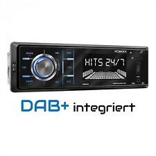 DAB+ AUTORADIO 1DIN CON BLUETOOTH MP3 USB SD AUX IN, 4 x 60 WATT RDS AM / FM