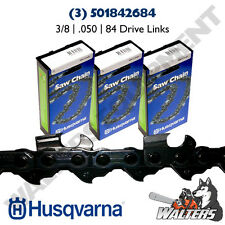 "(3) Genuine Husqvarna 24"" Chains H47 | 501842684 | 3/8 | .050"" | 84 DL | 455 460"