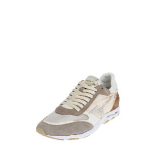 RRP €160 MIZUNO Sneakers Size 41 UK 7.5 US 8.5 Contrast Leather Logo Patch Mesh