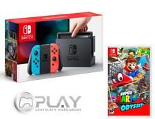 NINTENDO SWITCH Consola Azul/Rojo Neón 32Gb + Super Mario Odyssey