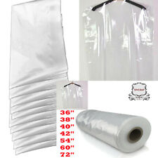 Clear Polythene Garment Covers Clothes Suit Dress Plastic Bags Poly roll freeP&P