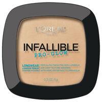 L'Oreal Paris Infallible Pro Glow Pressed Powder 22 23 24 26 27 YOU choose NEW
