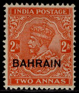 BAHRAIN GV SG17a, 2a vermilion, M MINT. Cat £100. SMALL DIE