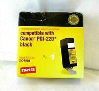 Staples Ink Canon PGI-220 Black Printer Cartridge Open Box Cartridge Is Sealed