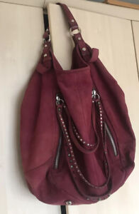 Russell Bromley Suede Leather Bag Slouchy Tote