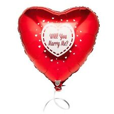 Will You Marry Me? Foil Red Heart Balloon