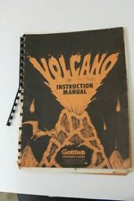 Gottlieb Volcano Pinball Machine Manual & Schematics - Used - Original