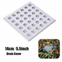 Drain Guard Cover Stainless Steel Grid Rustproof Plate Square Grate 5.5Inch  *u