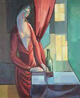 NU DE FEMME. HUILE SUR TOILE. ATTRIB. HERMINIO SENTIS. CIRCA 1960.