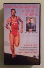 james waslaski  PAIN MANAGEMENT & SPORTS INJURIES  volume one 1 VHS VIDEOTAPE