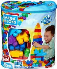 XL Bausteinebeutel Groß, 60 Teile, Grundfarben Kinderspielzeug DV dd