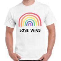 LGBT Rainbow Love Wins Proud London Soho Lips Gay Pride Gift Unisex T Shirt 729