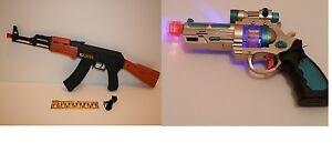 AK47, AK968 Kids Flashing LED Light up & Sound effect Space Combat Boy Gun Toy