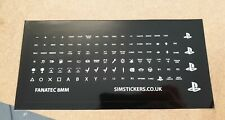 BLACK  FANATEC 8mm sim racing button box and wheel stickers for  CSL series