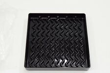 "New Carlisle 1102603 NeWave Square Drip Tray 6"" Black - A808"