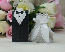 100pcs Tuxedo Dress Groom Bridal Wedding Birthday Favor Party Gift Candy Boxes