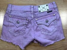 MISS ME Shorts Womens 27 Cargo Style Pink