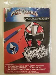 sea save the date Power Rangers Samurai Party Supplies Invitations w//envelopes