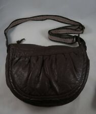 American Eagle Brown Faux Leather Bag Boho Woven Shoulder Strap Purse Vegan 1ac0dab4c297c