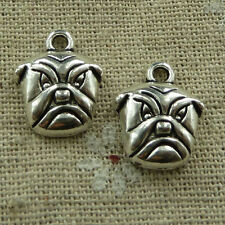 free ship 120 pieces tibetan silver dog charms 14x12mm #2631