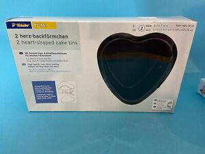neu * 2x Herz-Backförmchen in Herzform 11,5 x 4,5 x 12 cm Tchibo TCM NEU