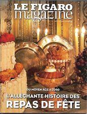 LE FIGARO MAGAZINE N°22504 16/12/2016  HISTOIRE DES REPAS DE FETE/ WALT DISNEY/