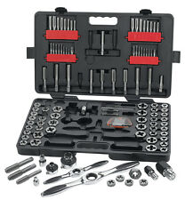 GearWrench 114 Piece Ratcheting Tap and Die Drive Tool Set SAE & Metric 82812