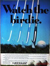 1981 DUNLOP '65', 'DDH' & 'Maxfli' Golf Balls Advert - Original Print AD