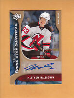 2009 10 TRILOGY YOUNG STAR SCRIPTS # YS-MH MATTHEW HALISCHUK NEW JERSEY DEVILS