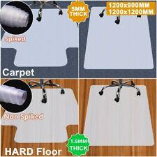 More details for 120x90cm large non-slip spiked pvc chair mat office desk carpet floor protector