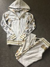 LG10 Cream Gold G Unit Tracksuit Joggers & Zip Up Hoodie Size Small
