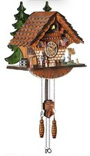 Kintrot Cuckoo Clock Traditional Chalet Black Forest House Handcrafted Wood New