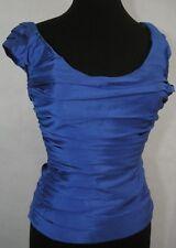 Ralph Lauren Black Label Royal Blue Silk Size 6 Top Halter Tank Formal