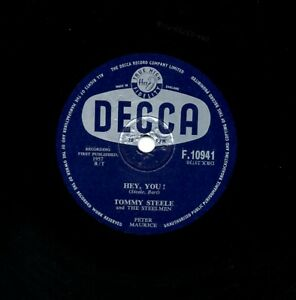 CLASSIC BRITISH R'n'R TOMMY STEELE  78  HEY YOU! / PLANT A KISS  DECCA F 10941 E