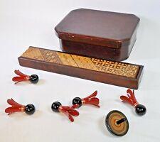 Japanese Antique beautiful Lunchbox & Chopstick-case with Chopstick rests(SJO)