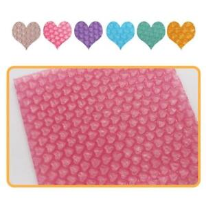 Heart-shaped Bubble Inflatable Foam Wrap For Packing Gift 10*10cm Decor Mat U6Y4
