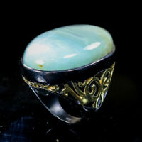 Natural Aquamarine 925 Sterling Silver Ring Size 9/RR17-1578