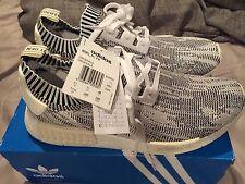 Adidas Nmd  Primeknit  Camo Grey White Size 11.5 12