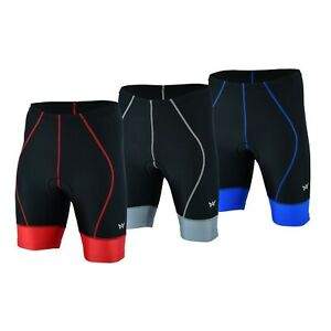 Men's Cycling Cool Max Padded Compression Shorts Polyester Lycra Apex Wear