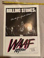 WAAF Rolling Stones Sir Morgan's Cove Poster