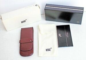 MONTBLANC 3 Pen Pouch/Holder – VINTAGE Brown Full-Grain Leather - Excellent