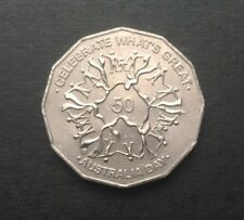 2010 AUSTRALIAN 50 CENT COIN - AUSTRALIA DAY CELEBRATE WHAT'S GREAT