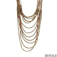 DV ITALY Lovely Necklace With Simulated Gem Made in Yellow Base metal .